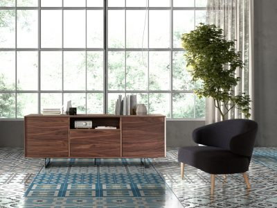 Dupen Dining Rooms, Spain W-131 Walnut