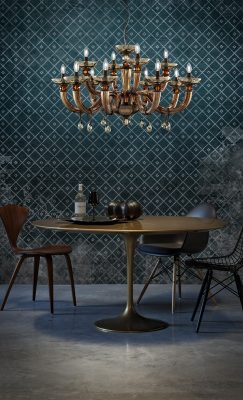 Brands Euroluce Dahlia Collection Dahlia L8+4 brown