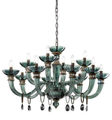 Brands Euroluce Dahlia Collection Dahlia L8+4 viridian