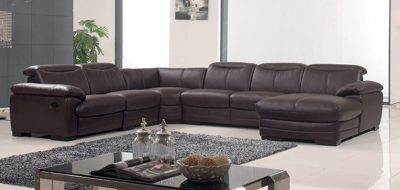 Living Room Furniture Reclining and Sliding Seats Sets 2146 Sectional with 1 Manual Recliner